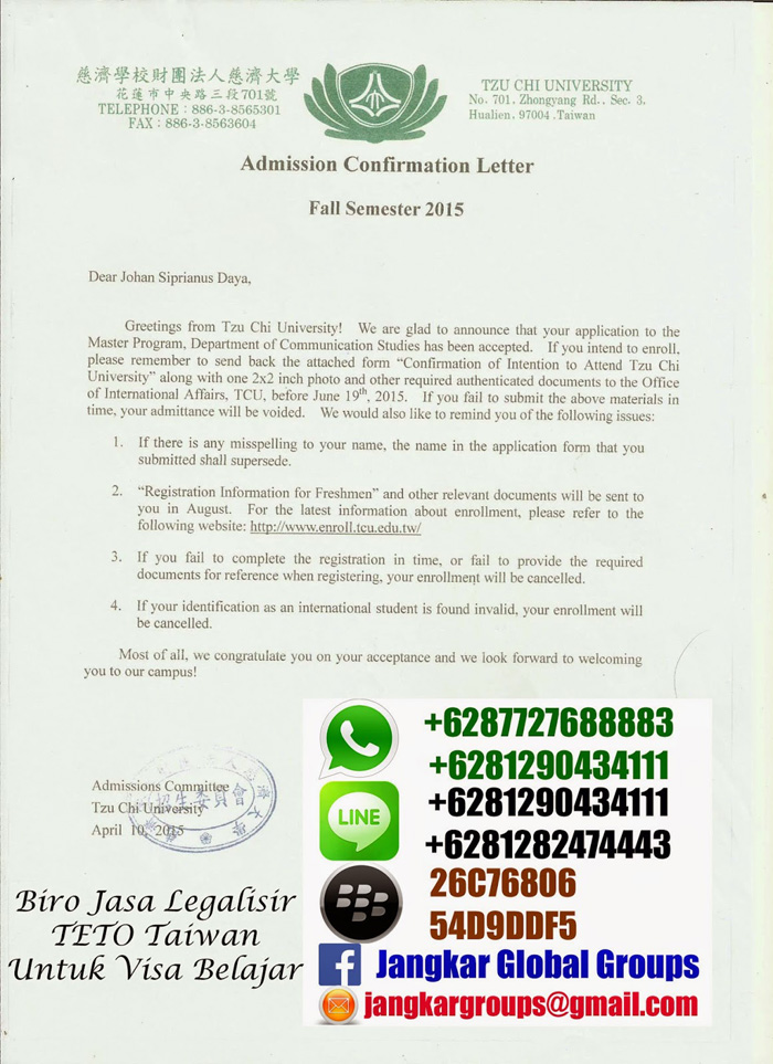 admission-confirmation-letter-taiwan