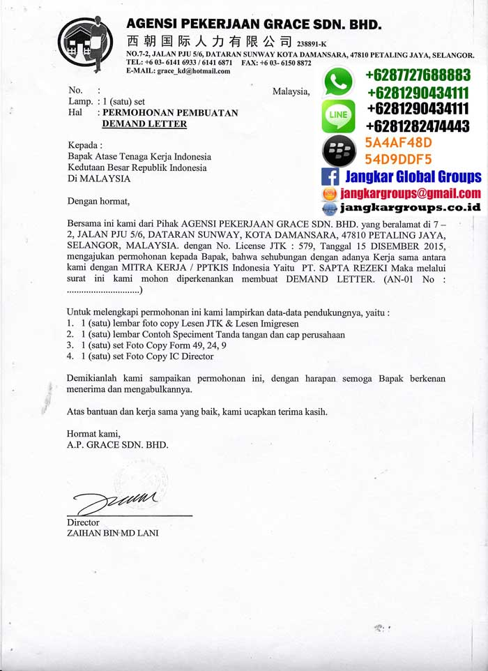 demand letter malaysia