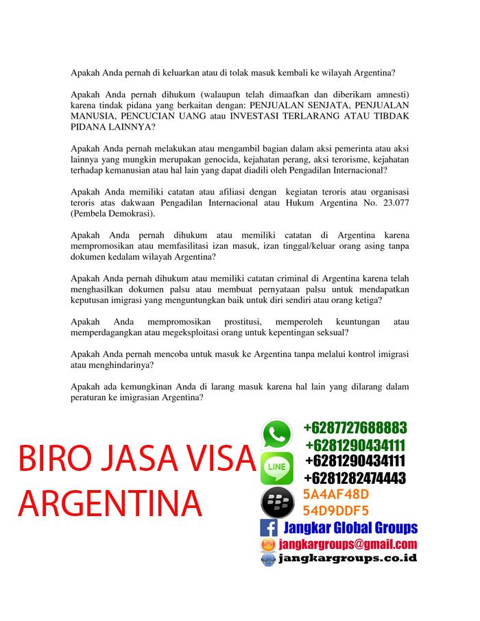 argentina visa application
