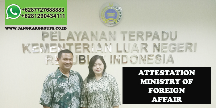 attestation indonesia ministry of foreign affair