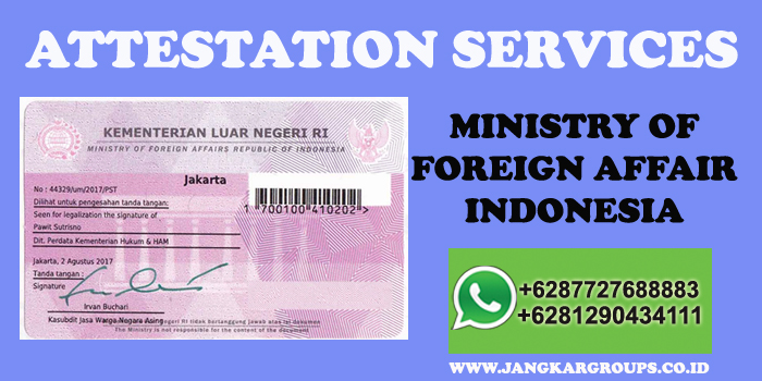 attestation ministry of foreign affair indonesia