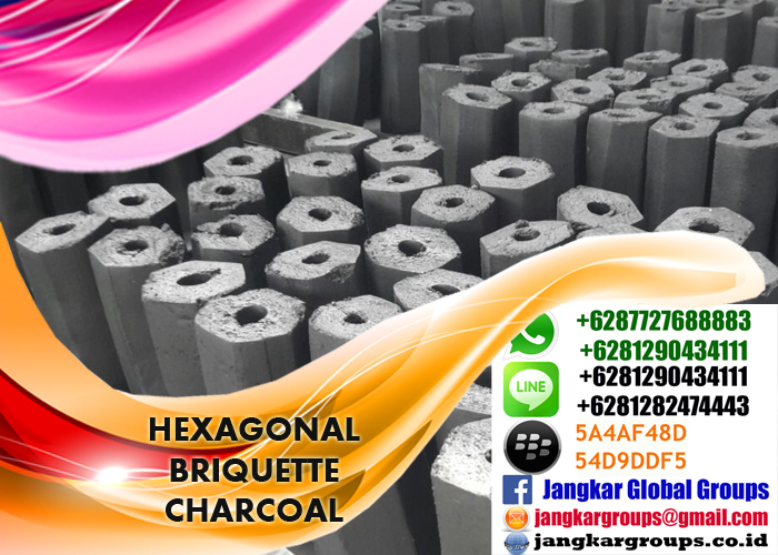 hexagonal briquette charcoal