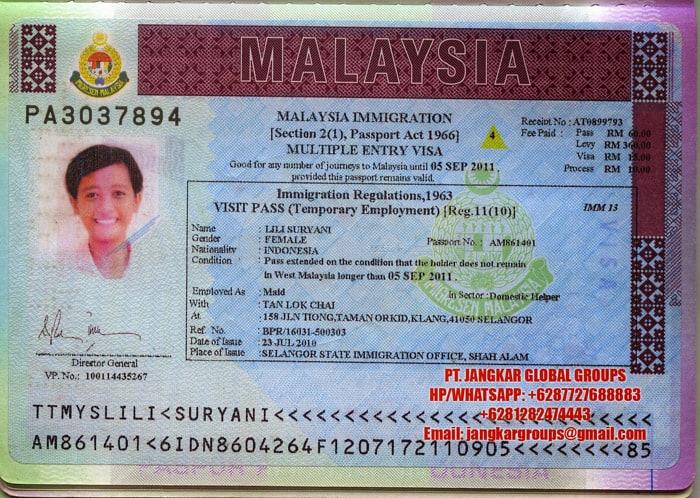 Visa Kerja Malaysia