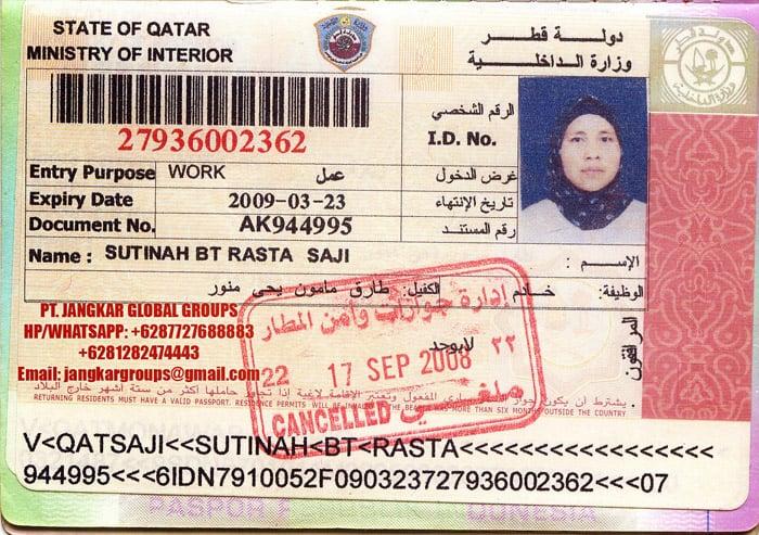 Visa Kerja Qatar