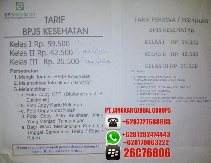 bpjs kesehatan persyaratan dan tarif