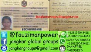 LEGALISASI DOKUMEN UAE DAN VISA KERJA UAE