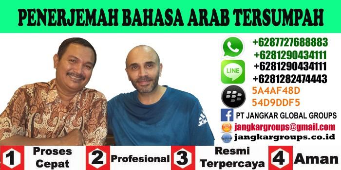 penerjemah bahasa arab tersumpah