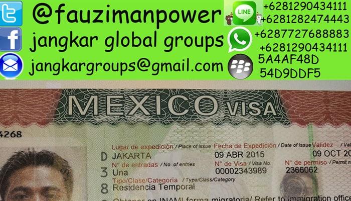 visa kerja mexico