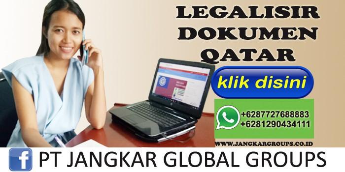 legalisir dokumen qatar
