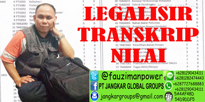 legalisir transkrip nilai