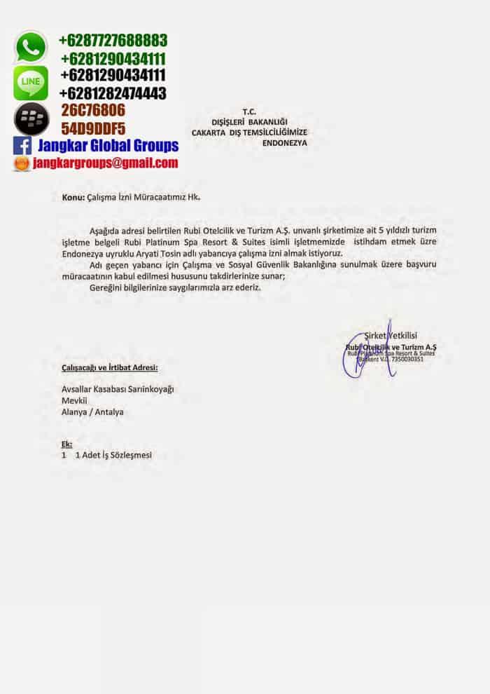 Contoh Surat Pernyataan Visa Detil Gambar Online