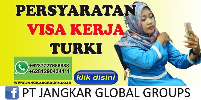 persyaratan visa kerja turki