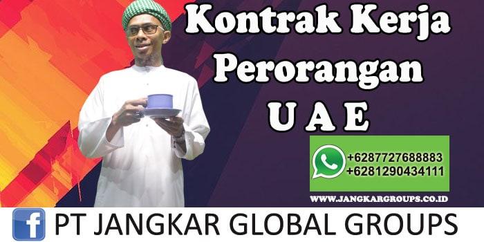 Kontrak Kerja Perorangan UAE