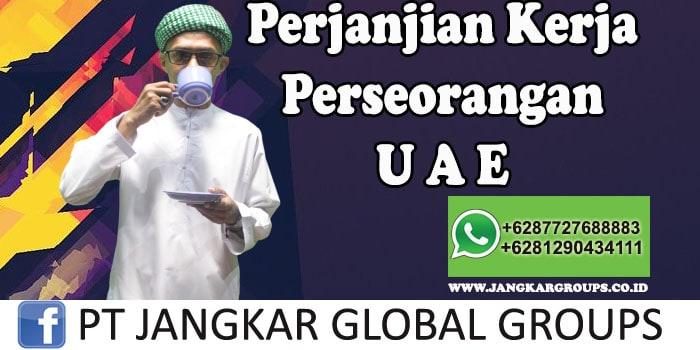 Perjanjian kontrak perseorangan UAE