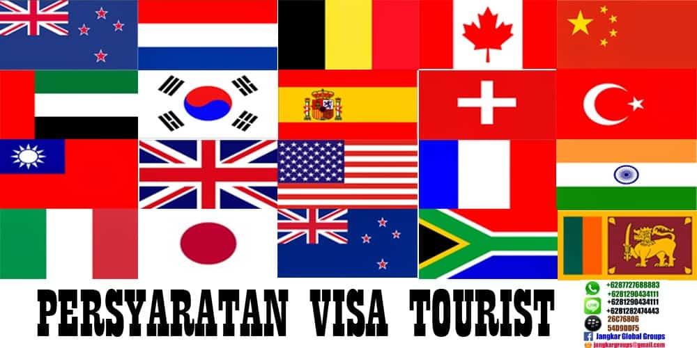 Persyaratan visa touris 20 negara