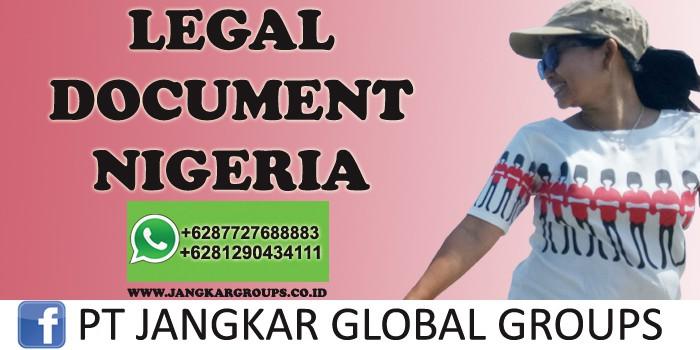 legal document nigeria