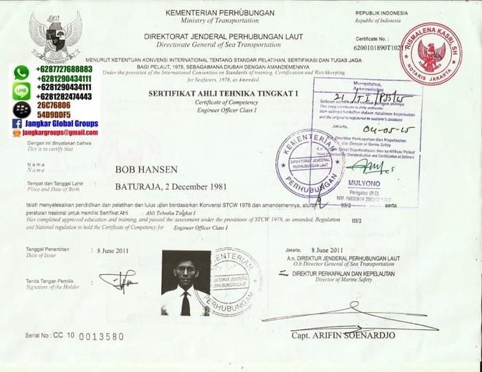 legalisasi ijazah pelaut