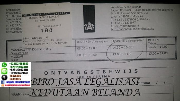 legalisir dokumen di kedutaan belanda