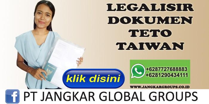 legalisir dokumen teto taiwan