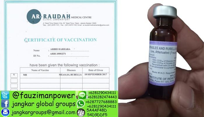 vaksin measles and rubella