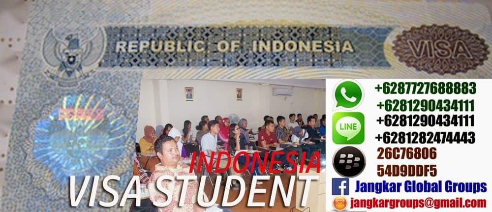 visa belajar di indonesia