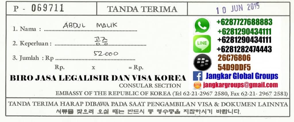 biaya legalisir korea