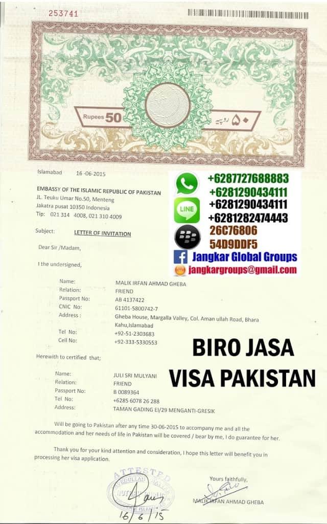 invitation letter pakistan