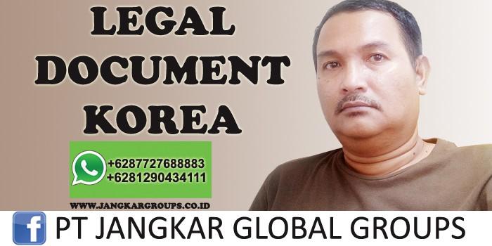 legal document korea