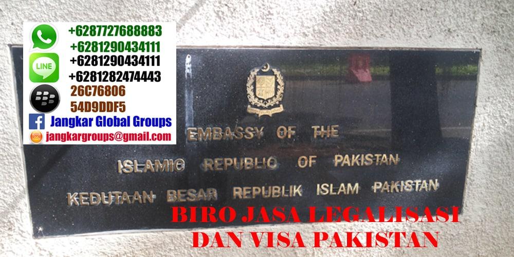 legalisasi di kedutaan pakistan