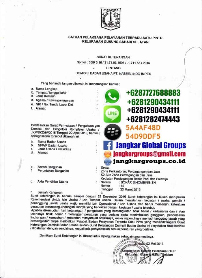 Perpanjangan Rptka Imta Jakarta Jangkar Global Groups