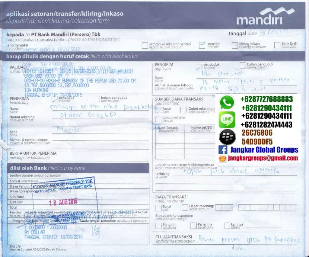 biaya visa kazakhstan