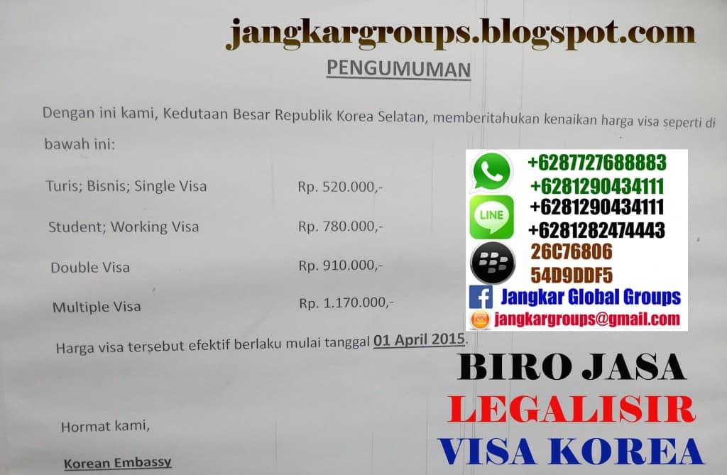 biaya visa korea