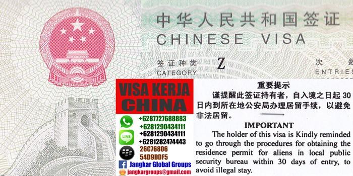 biro jasa visa kerja ke china