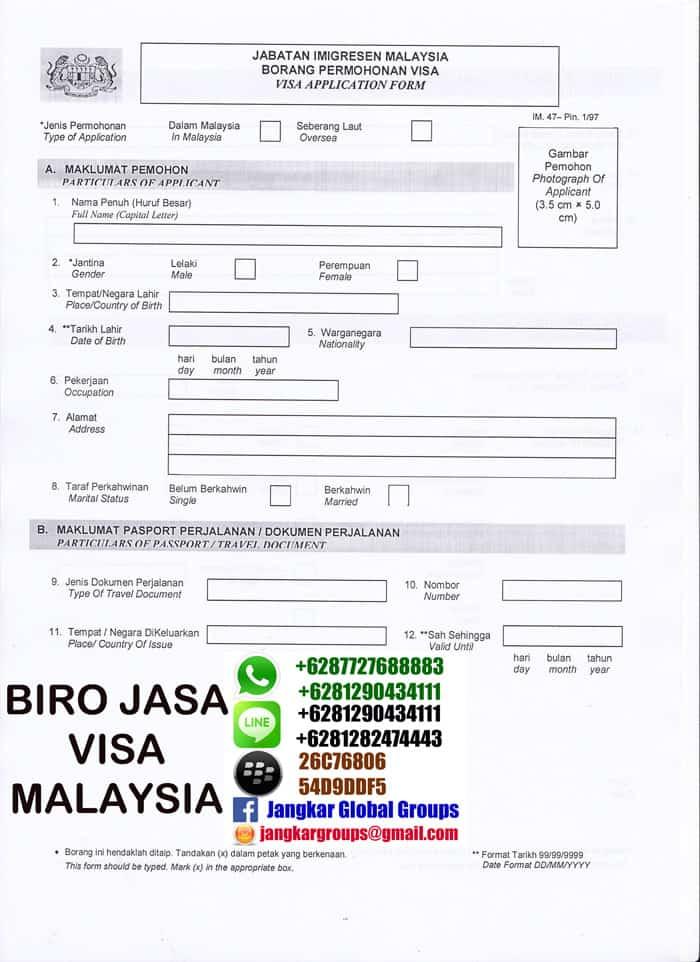 borang visa malaysia