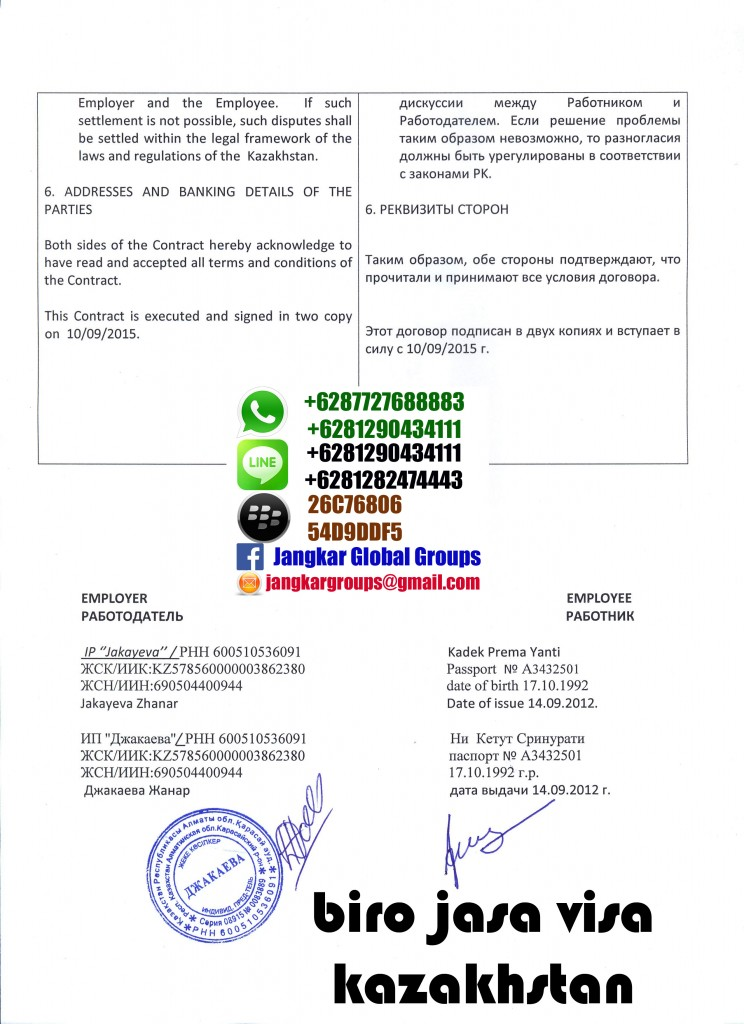 kontrak kerja kazakhstan p4