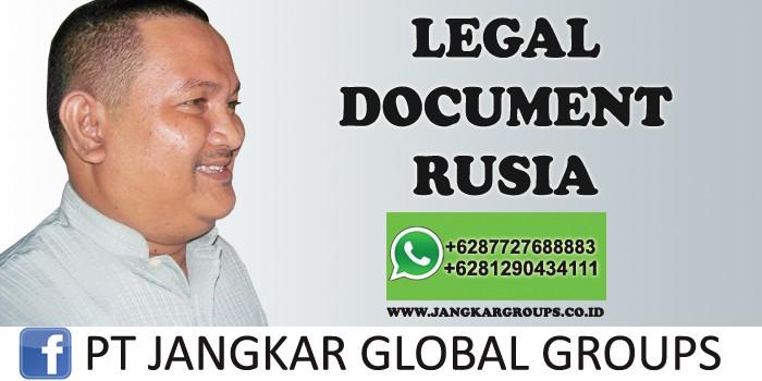 legal document rusia