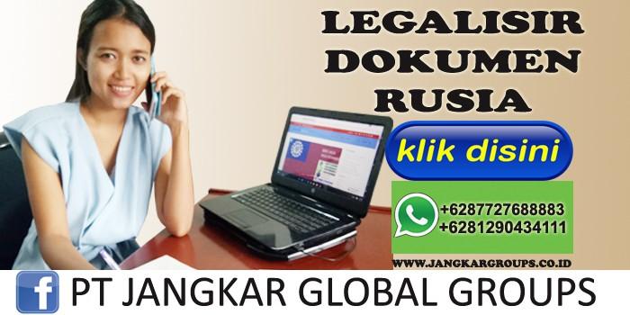 legalisir dokumen rusia
