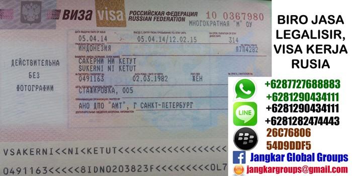 visa kerja ke rusia