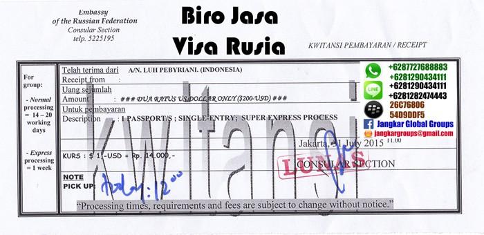jasa urus visa wisata ke rusia