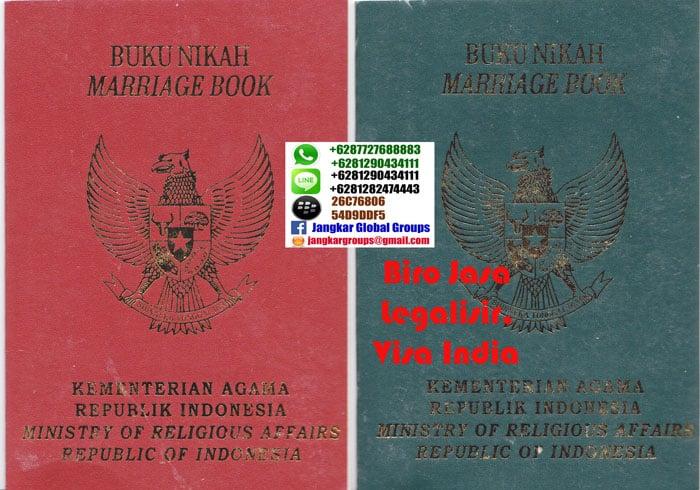 legalisir buku nikah di kedutaan india