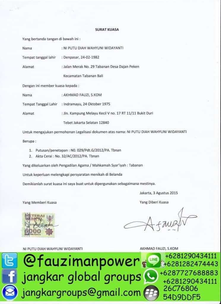 surat kuasa badilag