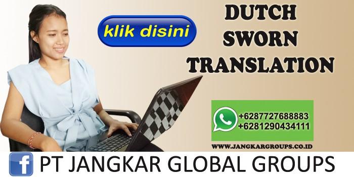 sworn translation dutch