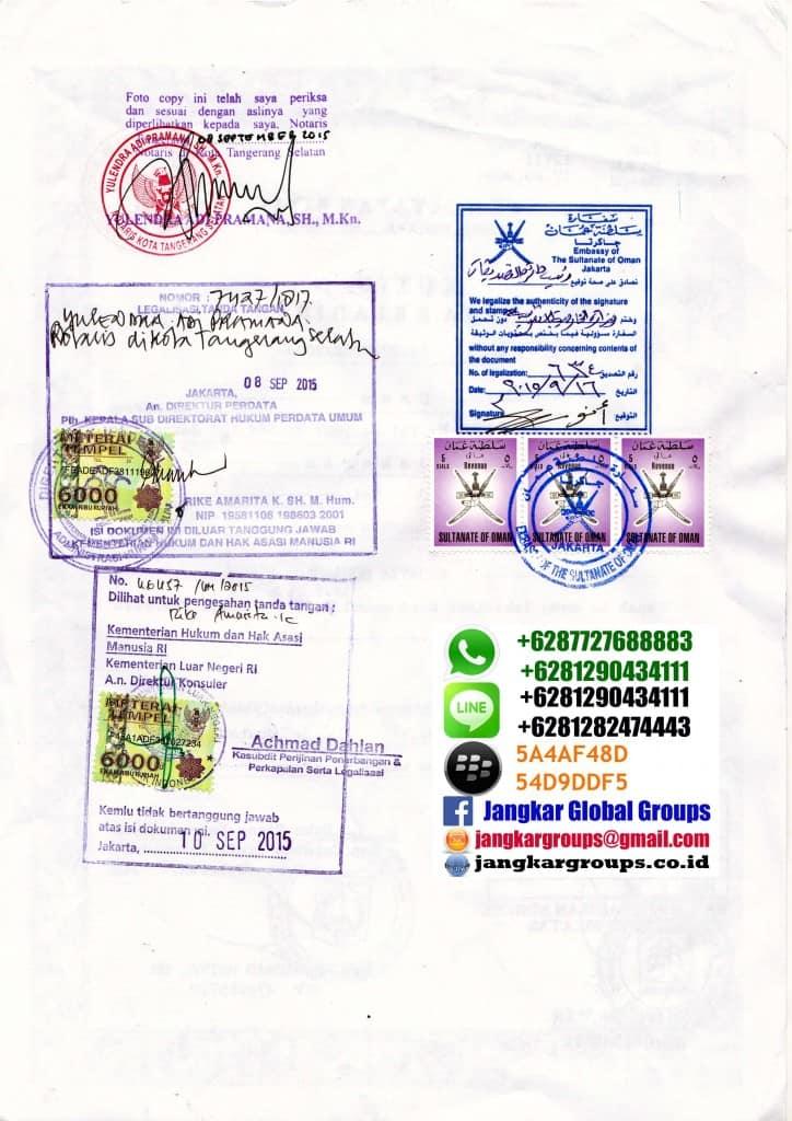 legalisir notaris akta kelahiran