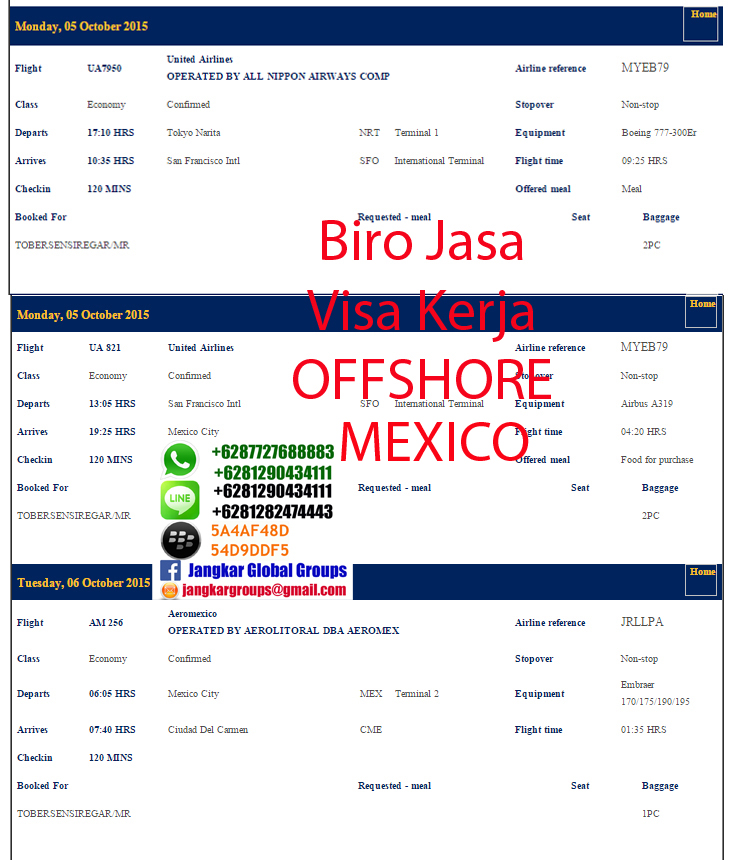 ticket to mexico