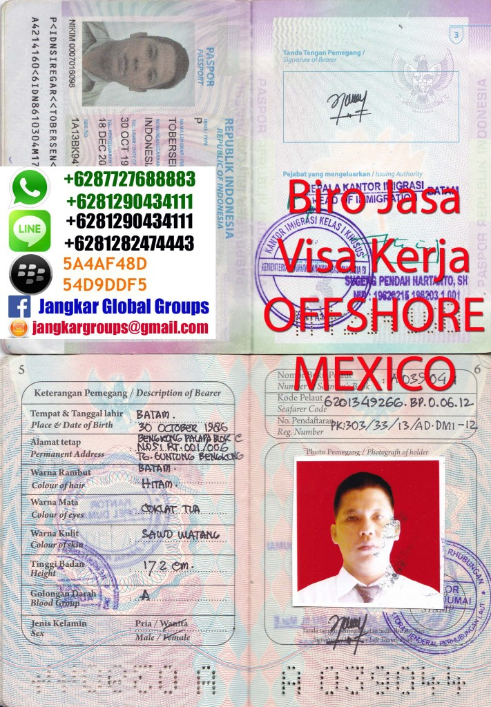 visa kerja offshore mexico