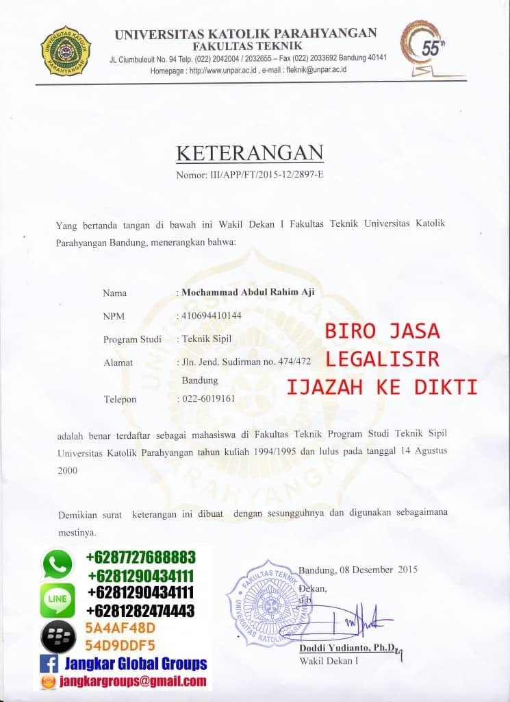 surat keterangan mahasiswa