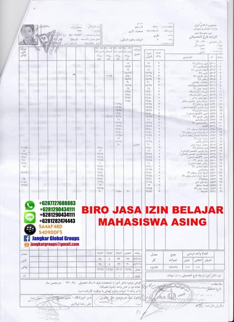 IZIN BELAJAR MAHASISWA IRAN - Jangkar Groups | Jasa