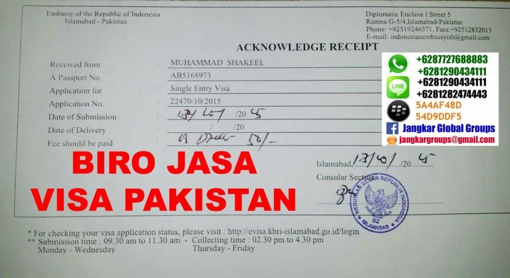 biaya visa indonesia untuk pakistan