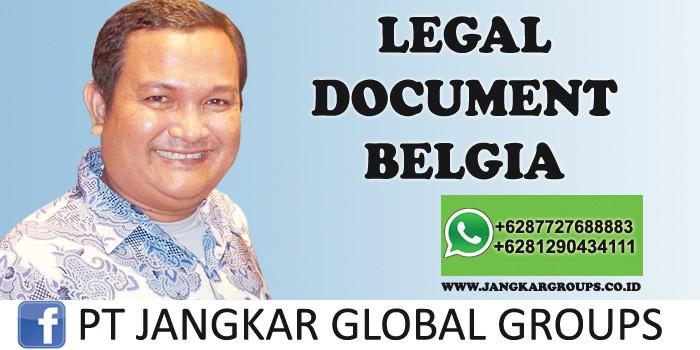 legal document belgia