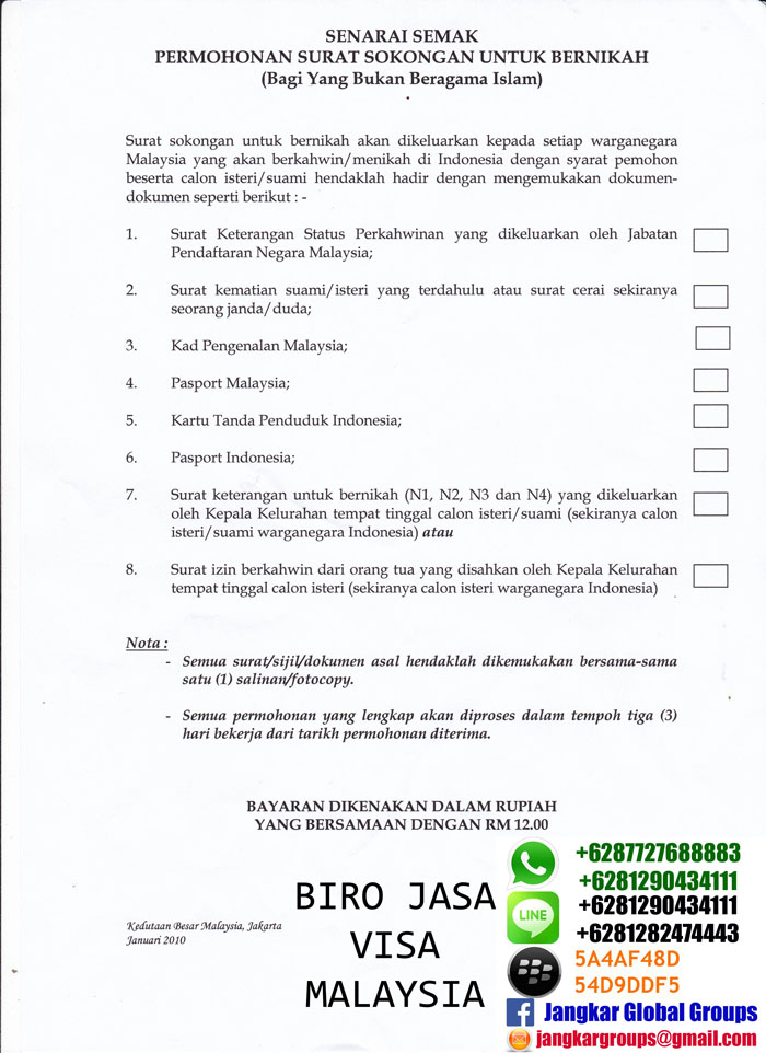 persyaratan menikah non muslim di malaysia